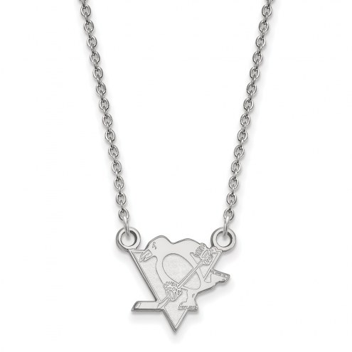 Pittsburgh Penguins Sterling Silver Small Pendant Necklace