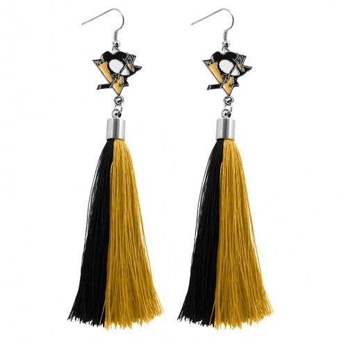 Pittsburgh Penguins Tassel Earrings