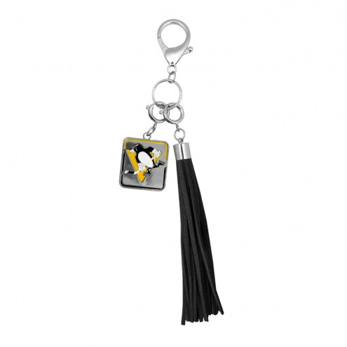 Pittsburgh Penguins Tassel Purse Charm
