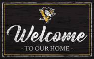 Pittsburgh Penguins Team Color Welcome Sign