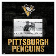 """Pittsburgh Penguins Team Name 10"""" x 10"""" Picture Frame"""