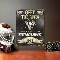 Pittsburgh Penguins Vintage Metal Sign
