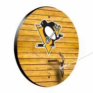 Pittsburgh Penguins Weathered Design Hook & Ring Game