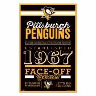 Pittsburgh Penguins Established Wood Sign