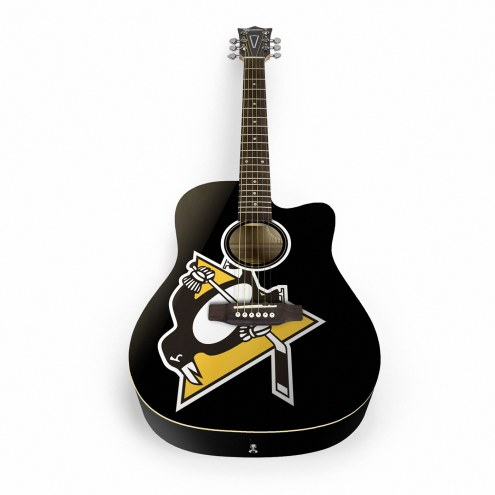 Pittsburgh Penguins Woodrow Acoustic Guitar