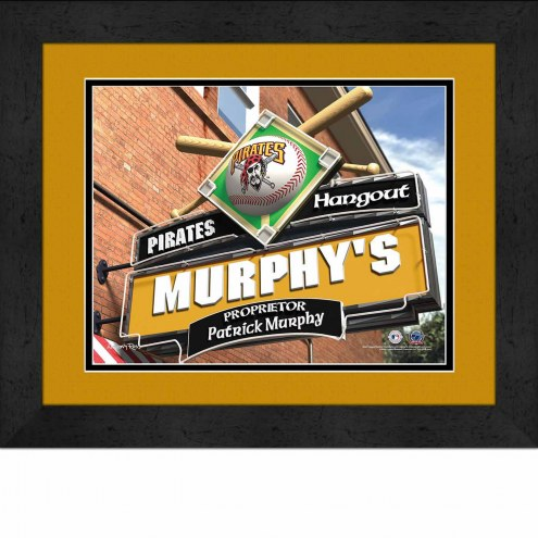Pittsburgh Pirates 13 x 16 Personalized Framed Sports Pub Print