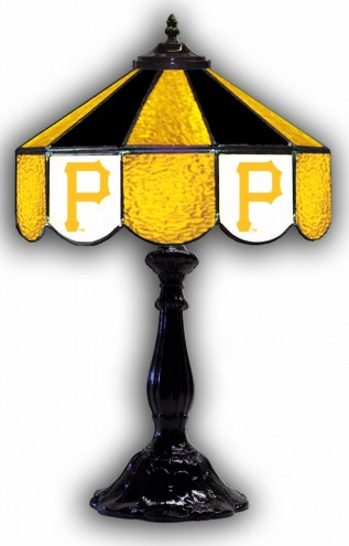 """Pittsburgh Pirates 21"""" Glass Table Lamp"""