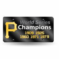 Pittsburgh Pirates 5 Time World Champ Laser Cut License Plate