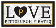 "Pittsburgh Pirates 6"" x 12"" Love Sign"