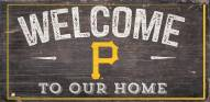 """Pittsburgh Pirates 6"""" x 12"""" Welcome Sign"""