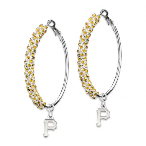 Pittsburgh Pirates Amped Logo Crystal Earrings