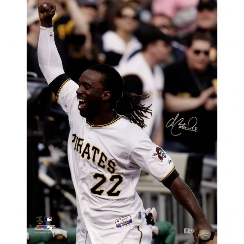 "Pittsburgh Pirates Andrew McCutchen Close Up Celebrating Signed 16"" x 20"" Photo"