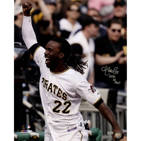"Pittsburgh Pirates Andrew McCutchen Close Up Celebrating w/ ""2013 NL MVP"" Signed 16"" x 20"" Photo"