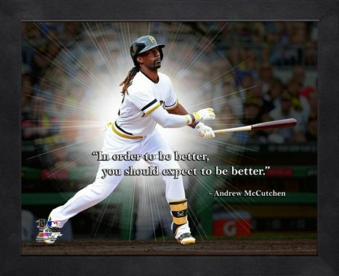Pittsburgh Pirates Andrew McCutchen Framed Pro Quote