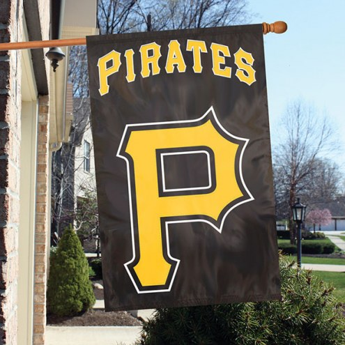 Pittsburgh Pirates Applique 2-Sided Banner Flag