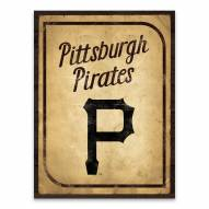 Pittsburgh Pirates Vintage Card Printed Canvas
