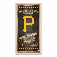 Pittsburgh Pirates Watercolor Printed Canvas