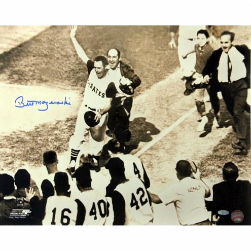 "Pittsburgh Pirates Bill Mazeroski 1960 Home Run Signed 16"" x 20"" Photo"
