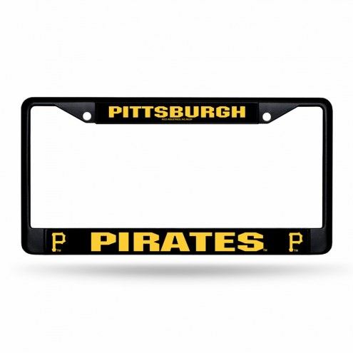 Pittsburgh Pirates Black Metal License Plate Frame