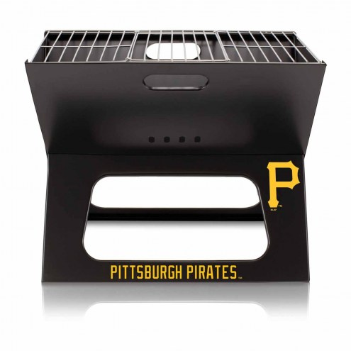 Pittsburgh Pirates Black Portable Charcoal X-Grill