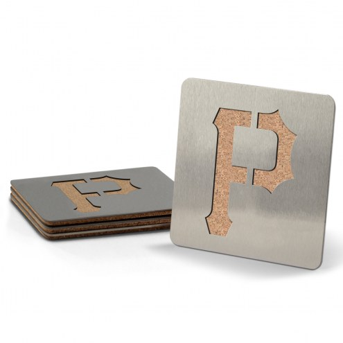 Pittsburgh Pirates Boasters Stainless Steel Coasters - Set of 4
