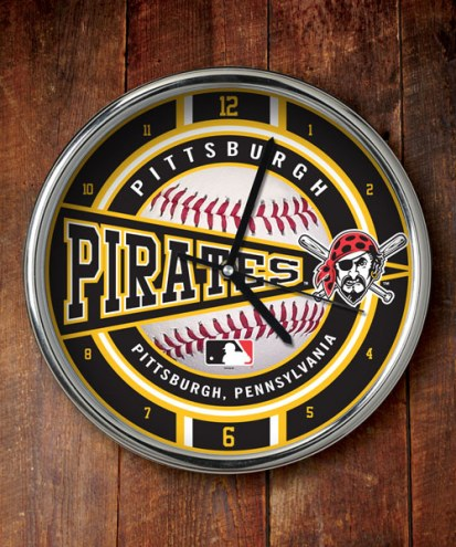 Pittsburgh Pirates Chrome Wall Clock