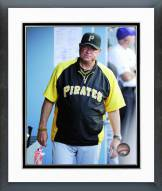 Pittsburgh Pirates Clint Hurdle Action Framed Photo