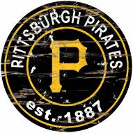 Pittsburgh Pirates Distressed Round Sign
