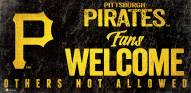 Pittsburgh Pirates Fans Welcome Sign