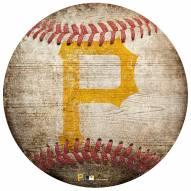 Pittsburgh Pirates Baseball Shaped Sign