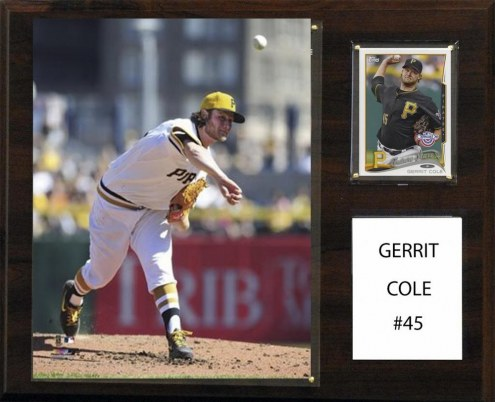 "Pittsburgh Pirates Gerrit Cole 12"" x 15"" Player Plaque"