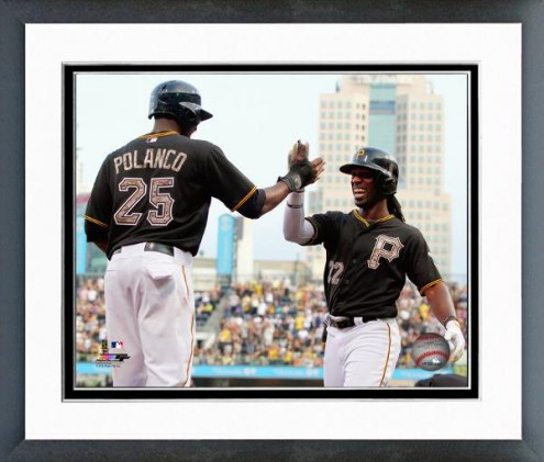 Pittsburgh Pirates Gregory Polanco & Andrew McCutchen Framed Photo