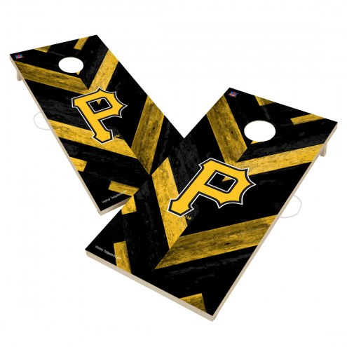 Pittsburgh Pirates Herringbone Cornhole Game Set