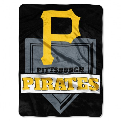Pittsburgh Pirates Home Plate Raschel Blanket