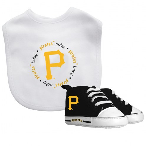 Pittsburgh Pirates Infant Bib & Shoes Gift Set