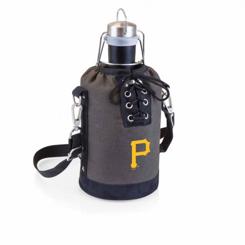 Pittsburgh Pirates Insulated Growler Tote with 64 oz. Stainless Steel Growler