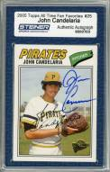 Pittsburgh Pirates John Candelaria Signed 2005 Topps Card Smile/Hand in Glove