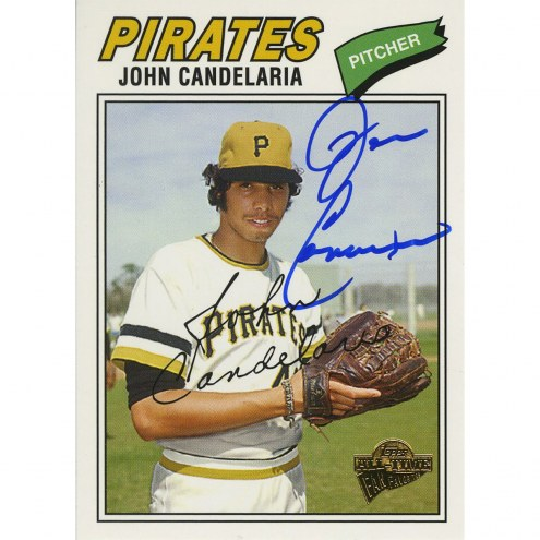 Pittsburgh Pirates John Candelaria Signed 2005 Topps Card