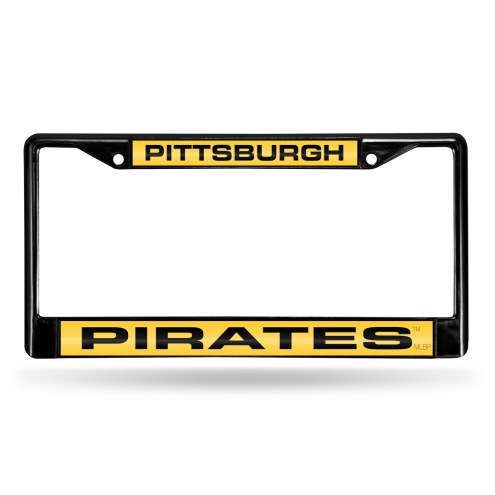 Pittsburgh Pirates Laser Black License Plate Frame