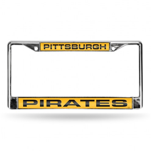 Pittsburgh Pirates Laser Chrome License Plate Frame