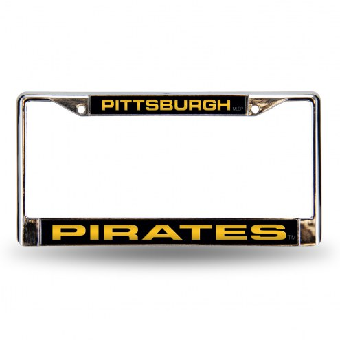 Pittsburgh Pirates Laser Rico Chrome License Plate Frame