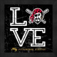 Pittsburgh Pirates Love My Team Color Wall Decor