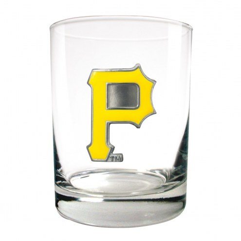Pittsburgh Pirates MLB 2-Piece 14 Oz. Rocks Glass Set