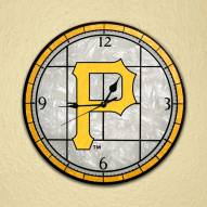 Pittsburgh Pirates MLB Stained Glass Wall Clock