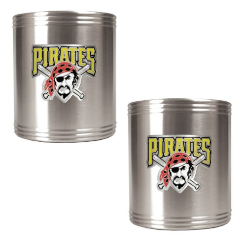 Pittsburgh Pirates MLB Stainless Steel Can Holder 2-Piece Set