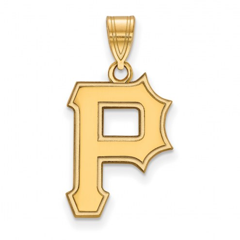 Pittsburgh Pirates MLB Sterling Silver Gold Plated Large Pendant