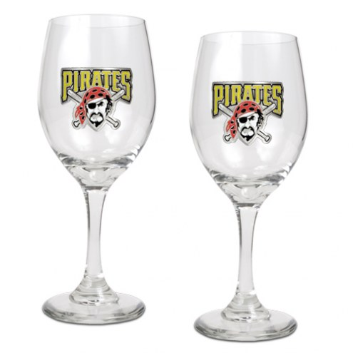 Pittsburgh Pirates MLB 2-Piece Wine Glass Set