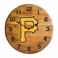 Pittsburgh Pirates Oak Barrel Clock