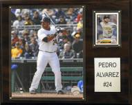 "Pittsburgh Pirates Pedro Alvarez 12"" x 15"" Player Plaque"