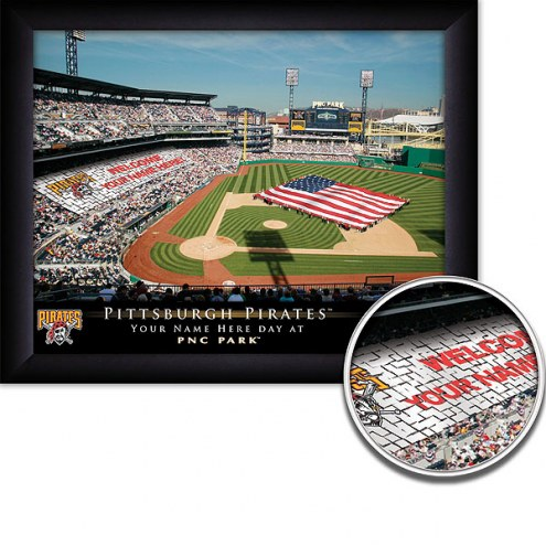 Pittsburgh Pirates 11 x 14 Personalized Framed Stadium Print